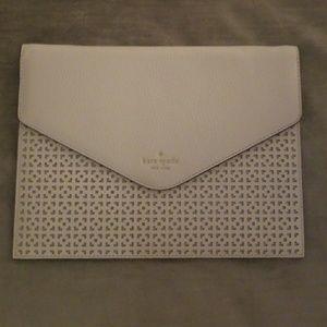 Kate Spade white envelope clutch